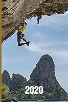 2020: Klettern Terminkalender ca DIN A5 weiss ueber 370 Seiten I Jahreskalender I Terminplaner I Tagesplaner