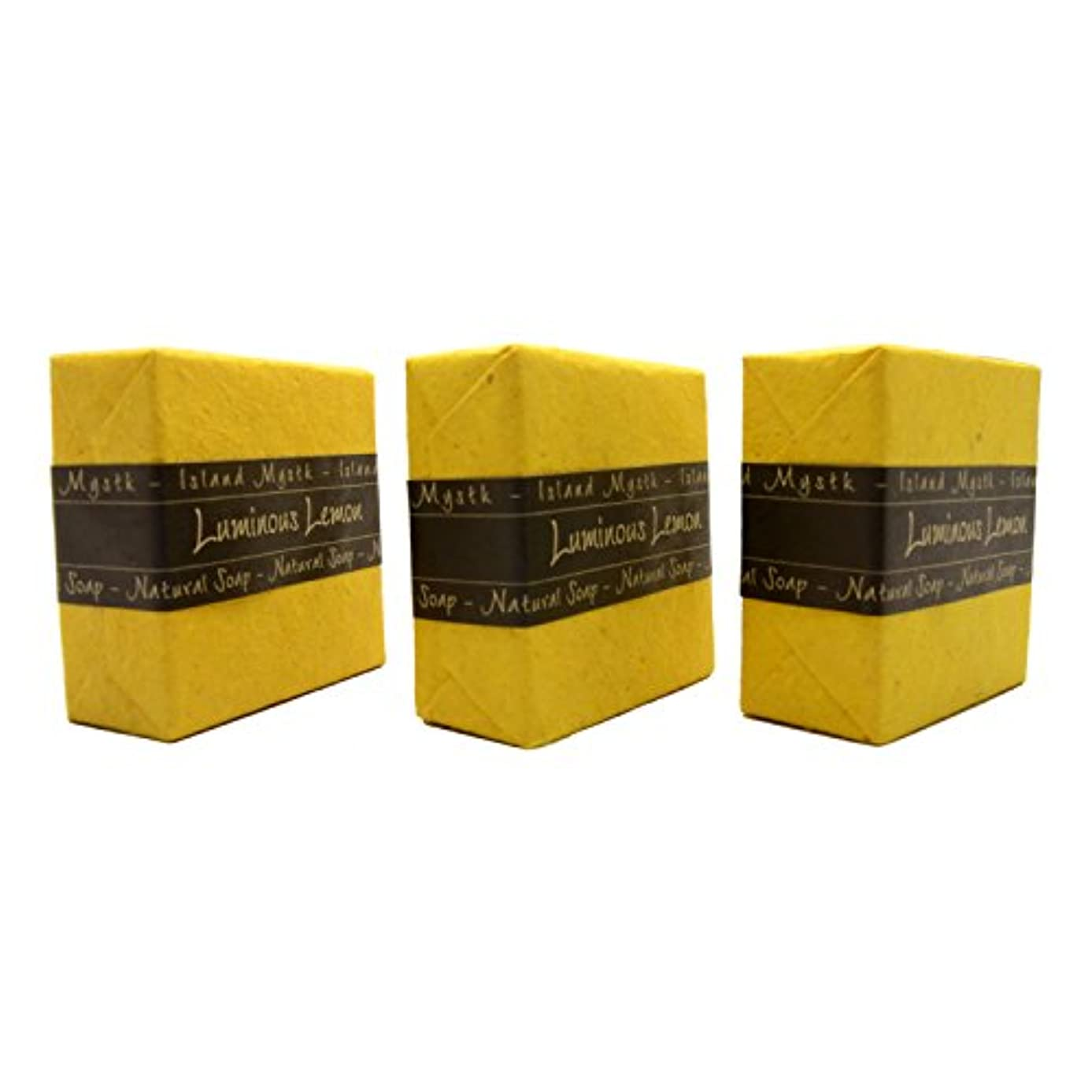 花火きゅうり寝室アイランドミスティック ルミナスレモン 3個セット 115g×3 ココナッツ石鹸 バリ島 Island Mystk 天然素材100% 無添加 オーガニック