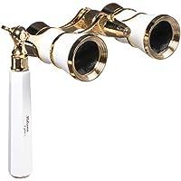 LaScala Optics 3x25 Iolanta Opera Glasses with Flashlight (White and Gold) [並行輸入品]