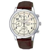 セイコー Seiko Men's SNDC31 Classic Brown Leather Beige Chronograph Dial Watch 男性 メンズ 腕時計 【並行輸入品】