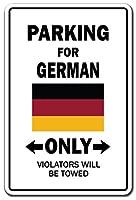 """駐車場のドイツ語のみドイツ国旗National Pride Loveギフト 13"""" X 20"""" Z-1320-German Country"""