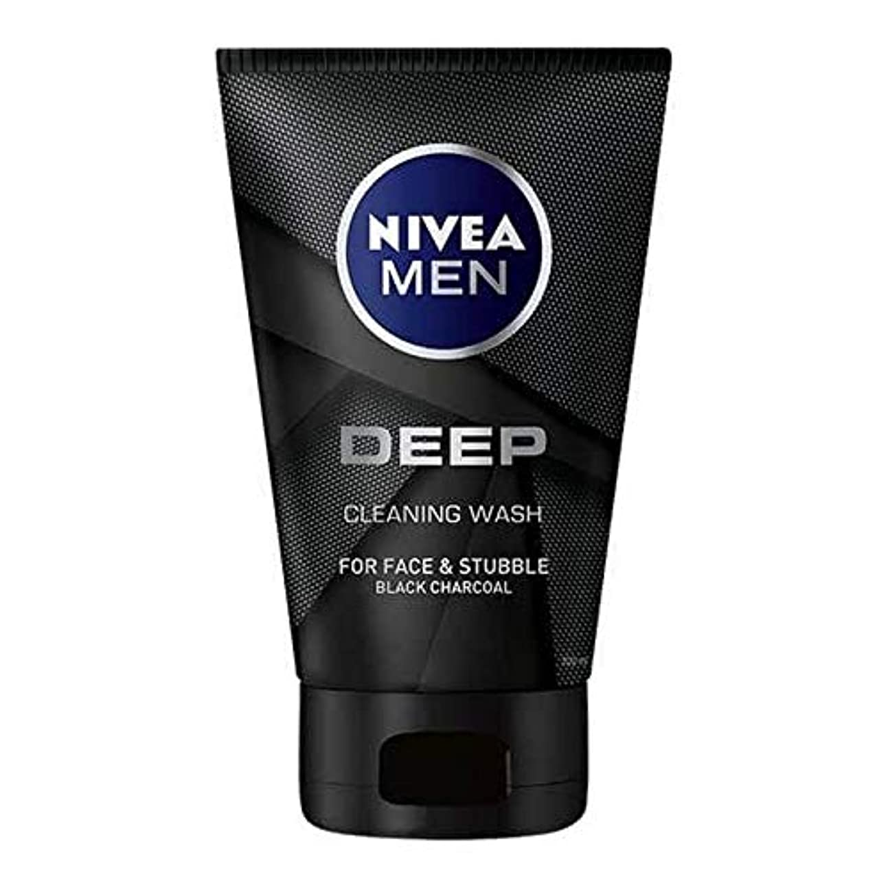 クランプ硬いエステート[Nivea] 男性の深い顔ウォッシュ100ミリリットル用ニベア - NIVEA For Men Deep Face Wash 100ml [並行輸入品]