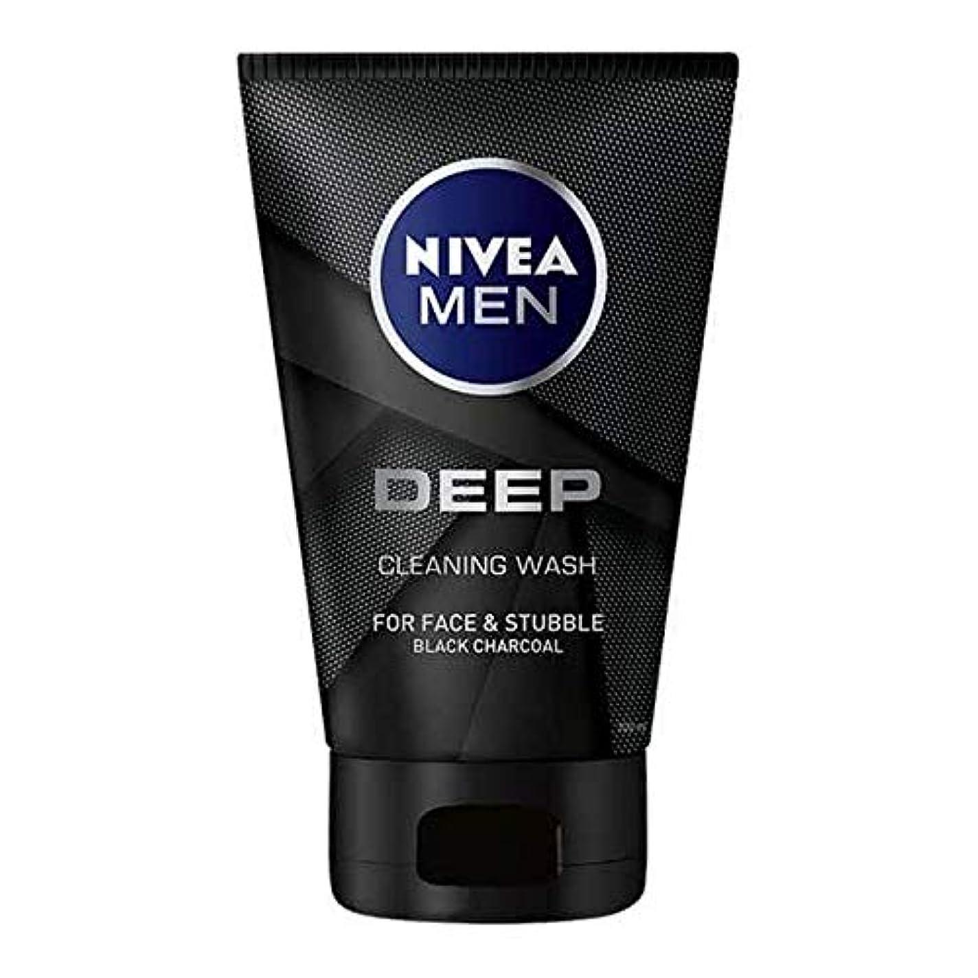 レビュー水曜日ニコチン[Nivea] 男性の深い顔ウォッシュ100ミリリットル用ニベア - NIVEA For Men Deep Face Wash 100ml [並行輸入品]
