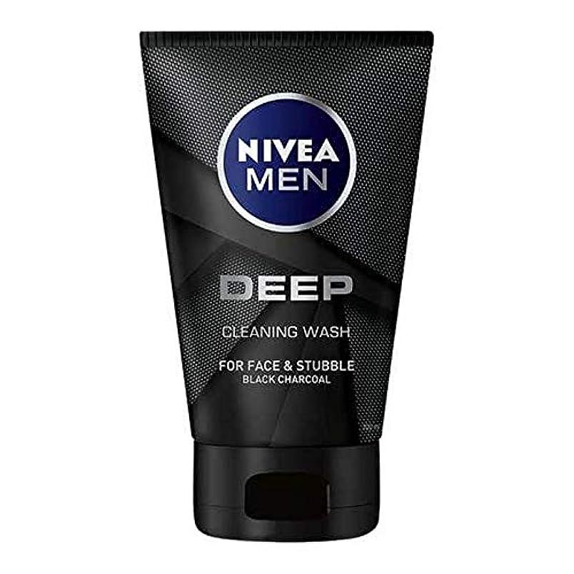 不快スイス人インフルエンザ[Nivea] 男性の深い顔ウォッシュ100ミリリットル用ニベア - NIVEA For Men Deep Face Wash 100ml [並行輸入品]