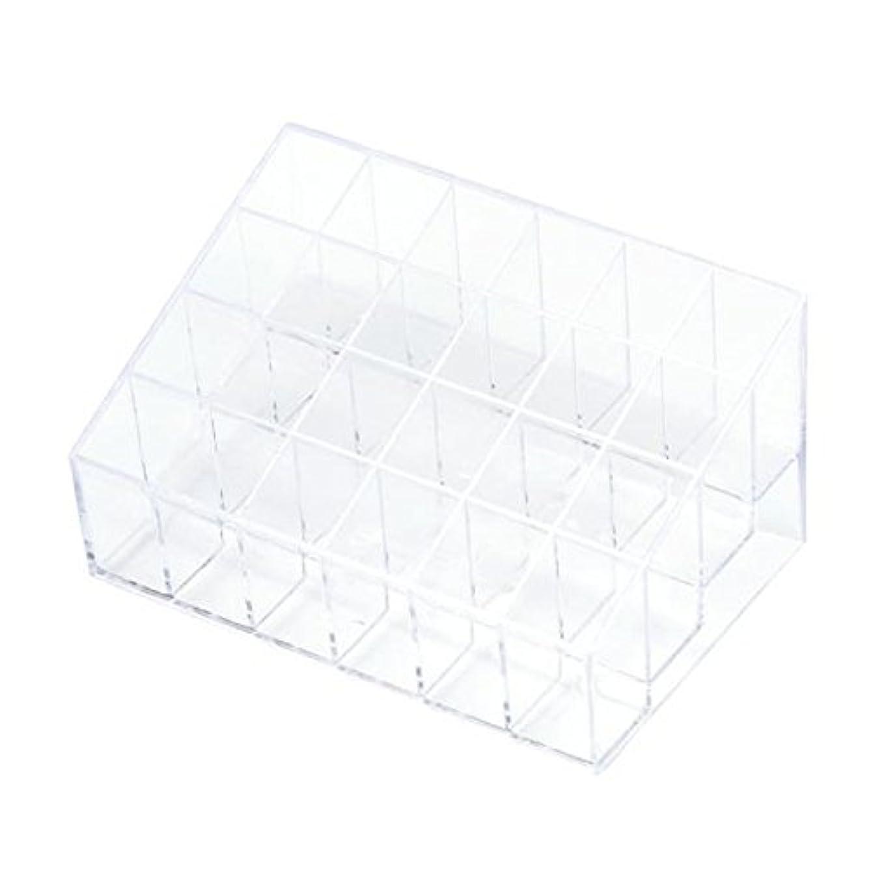 ありふれた信頼できる昼食YOKINO 口红收纳盒 メイクアップ 化粧品収納ボックス 白い透明な 宝石箱口紅ストレージスタンドホルダー 生活用品 便利 プラスチック製 24グリッド