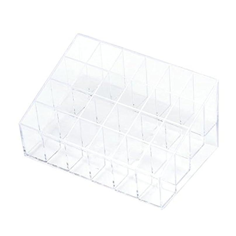 ノーブル一般的に言えば再発するYOKINO 口红收纳盒 メイクアップ 化粧品収納ボックス 白い透明な 宝石箱口紅ストレージスタンドホルダー 生活用品 便利 プラスチック製 24グリッド