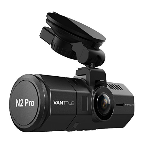 ドライブレコーダー 前後カメラ VANTRUE N2 Pro 車内+車外 前後 1080P ドラレコ HDR 2カメラ 駐車監視 SONY製センサー LED信号機対策 フルHD ドライブ レコーダー 2.5K&1440P前録モード 1.5型LCD 170+140度広視野角 GPS機能(別売) 前後同時録画 18ヶ月保証期間 動体検知 衝撃録画 高速起動 赤外線暗視機能 256GB(別売)サポート 日本語説明書付き
