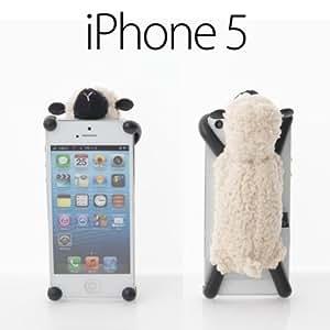 シマシマ iPhone5 専用 スマホケース モコモコ 羊 の ぬいぐるみ iPhone カバー Sheepy シーピー アイボリー