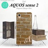 SH-04L SHV43 AQUOS sense2 スマホケース カバー レンガ 【対応機種:AQUOS sense2 SH-04L SHV43】【アルファベット [Z]】