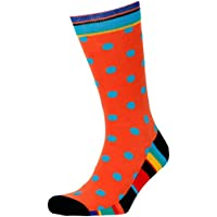 Men's Contrast Large Dot Crew Socks