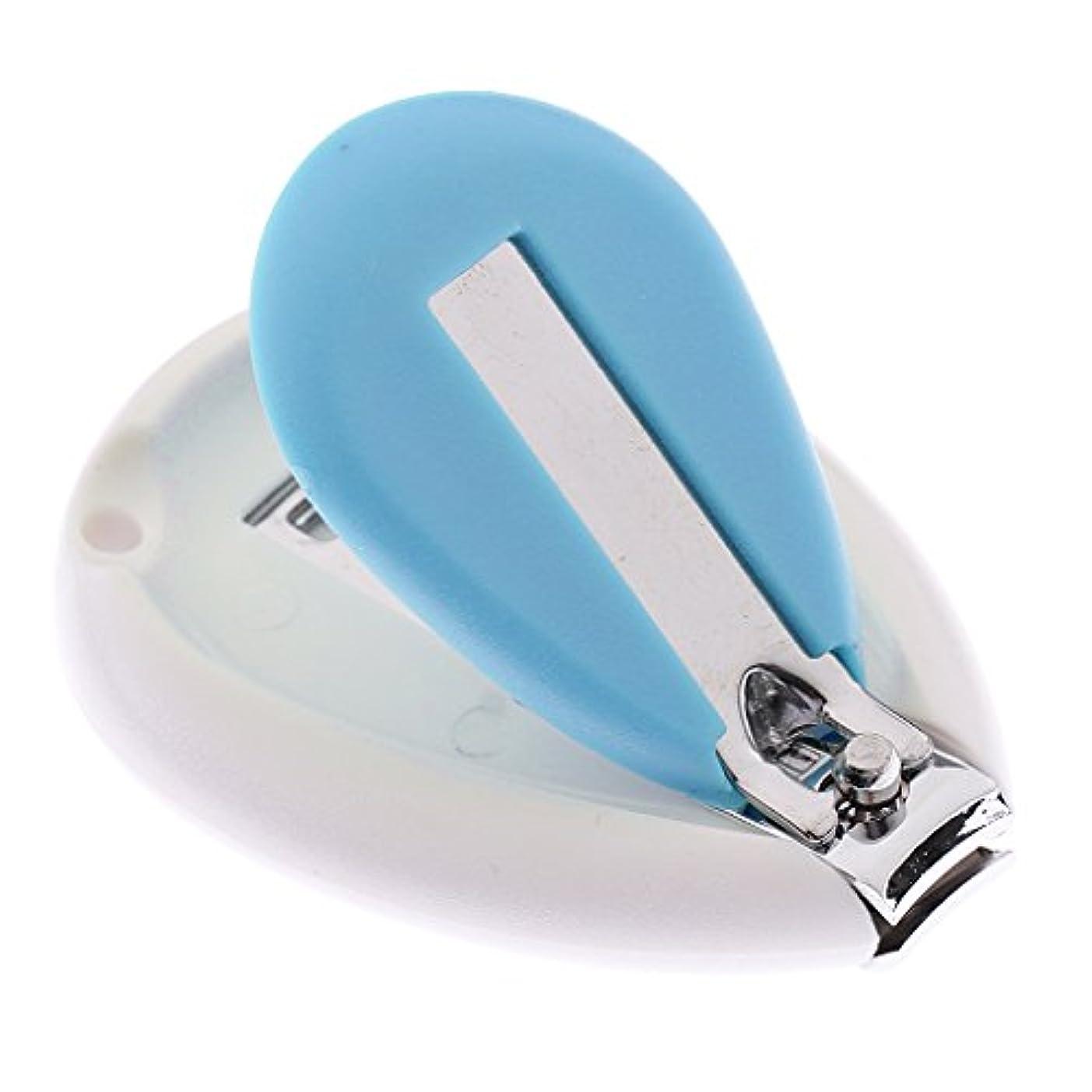 息苦しい料理をするスペシャリストGRALARA キッズ 赤ちゃん ネイル クリッパー はさみ トリマー カッター 安全 人間工学 全3色 - 青