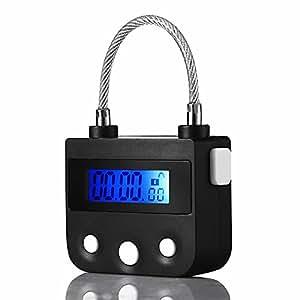 タイマー式南京錠 USB充電 安心 防犯グッズ