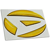 BATBERRYドーミングエンブレム ダイハツver01 メタリックイエロー ハイゼット トラック S500P/S510P エンブレム フロント用 メタリックカラー 1個