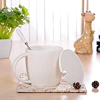bxsbh-give A Good GiftCeramicマグコーヒーカップカバーwithスプーンオートミールOversized Cup Office 6825412718855