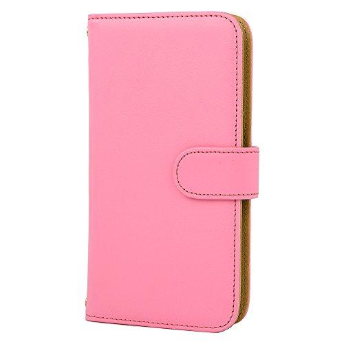 [スマ通] Xperia 8 SOV42 スマホケース スマホカバー 携帯ケース 携帯カバー 手帳型 本革 ピンク SONY ソニー エクスペリア エイト au SIMフリー