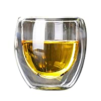 Heat-resistant Double Wall Glass Cup Beer Coffee Cup Transparent Glass Cup