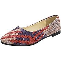 baigoodsメスPrettyフラット靴レディースガールズスプリング混合色春スタイルカジュアル靴