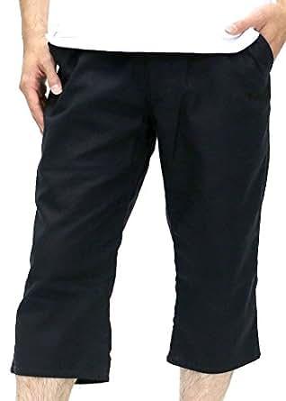 [コンバース] ショートパンツ メンズ ハーフパンツ トレーニング 七分丈 クロップド 麻混素材 イージーパンツ リラックス ネイビー LL