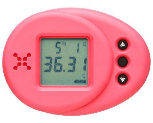 ランズナイトセルフ 女性のための衣服内温度計 ロータスピンク