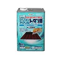 アサヒペン 水性シリコンアクリルトタン用 スカイブルー 14L 【まとめ買い3缶セット】