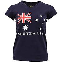 New Womens Ladies Australia Day Cotton T Shirt Australian Souvenir Flag Tee Tops
