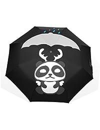 AOMOKI 折り畳み傘 折りたたみ傘 日傘 手開き 三つ折り 晴雨兼用 梅雨対策 UVカット 耐強風 8本骨 男女兼用 パンダ 可愛い