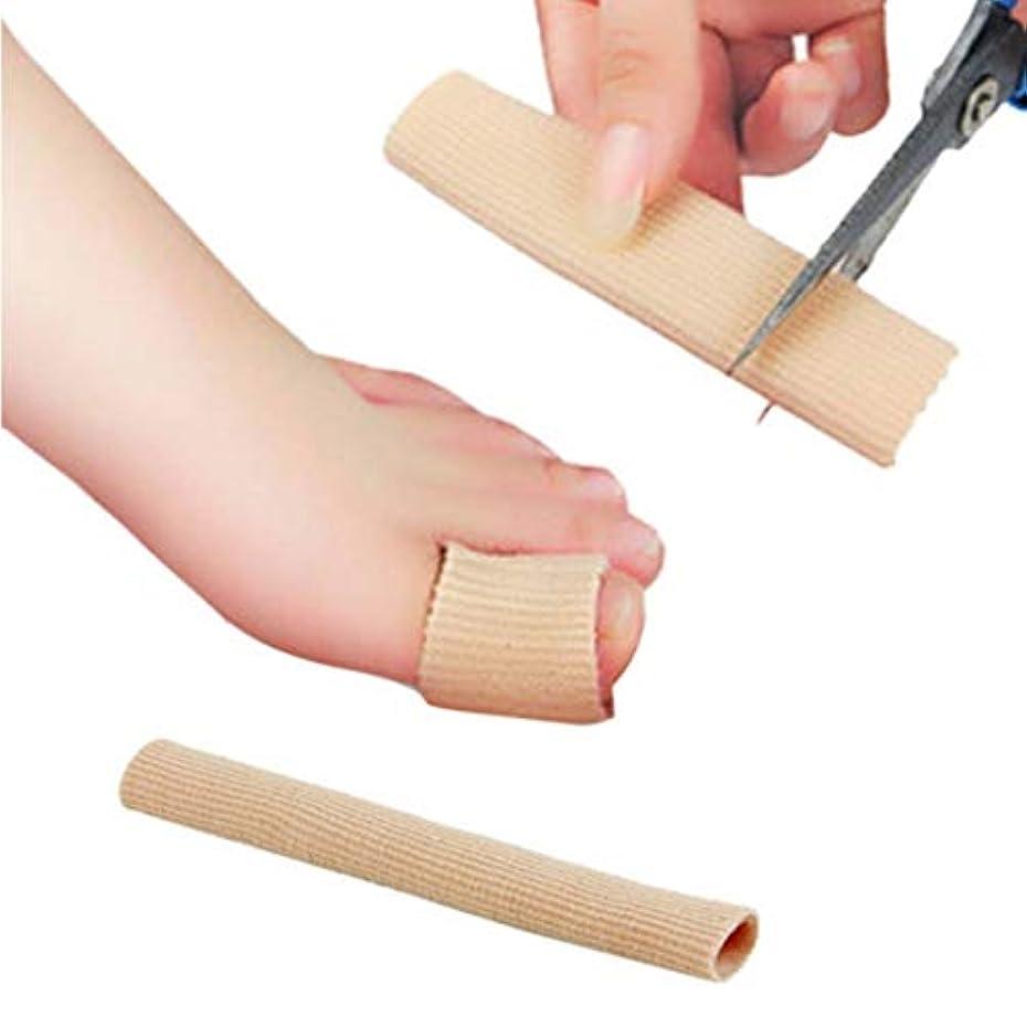 文明スラム街抵抗Fabric Gel Tube Bandage Finger & Toe Protective Foot Feet Pain Relief 15CM Feet Guard for Feet Care insoles