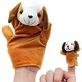 2本(ビッグ1つ+小さい一つ)子供 赤ちゃん物語のフィンガーパペットぬいぐるみ 可愛い パターン:犬