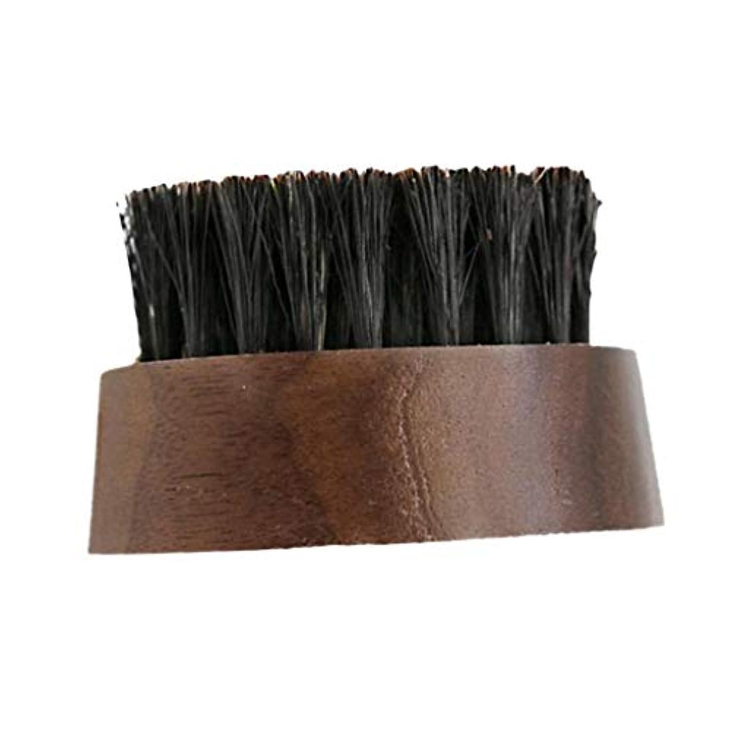 ラリードキドキ蓋dailymall 柔らかい毛ブラシシェービング木製ハンドル理髪ツール顔クリーナーブラシを剃る男性 - 褐色, 説明したように
