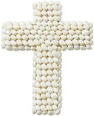 Amalfi Atlantic Cross Sculpture Amalfi Atlantic Shell Cross Sculpture, White