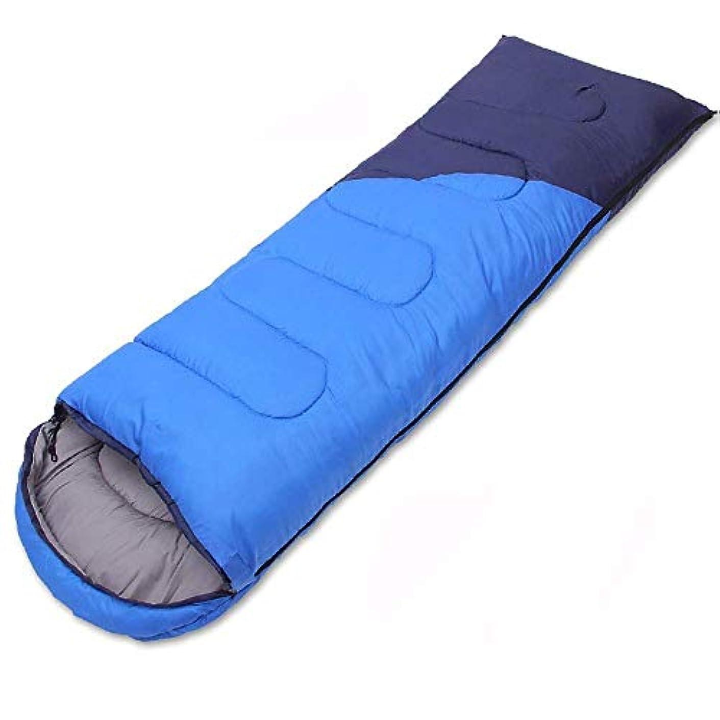 心臓ドライバクリケット軽量大人キャンプ寝袋暖かい防水4シーズン封筒寝袋旅行用ハイキング屋内野外活動ブルー
