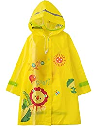Nicoandy キッズ レインコート子供のレインコート雨具EVA素材製 ポンチョ繰り返し使える 折り畳み可能 防水 防汚 無臭 高耐久性ボーイの女の子