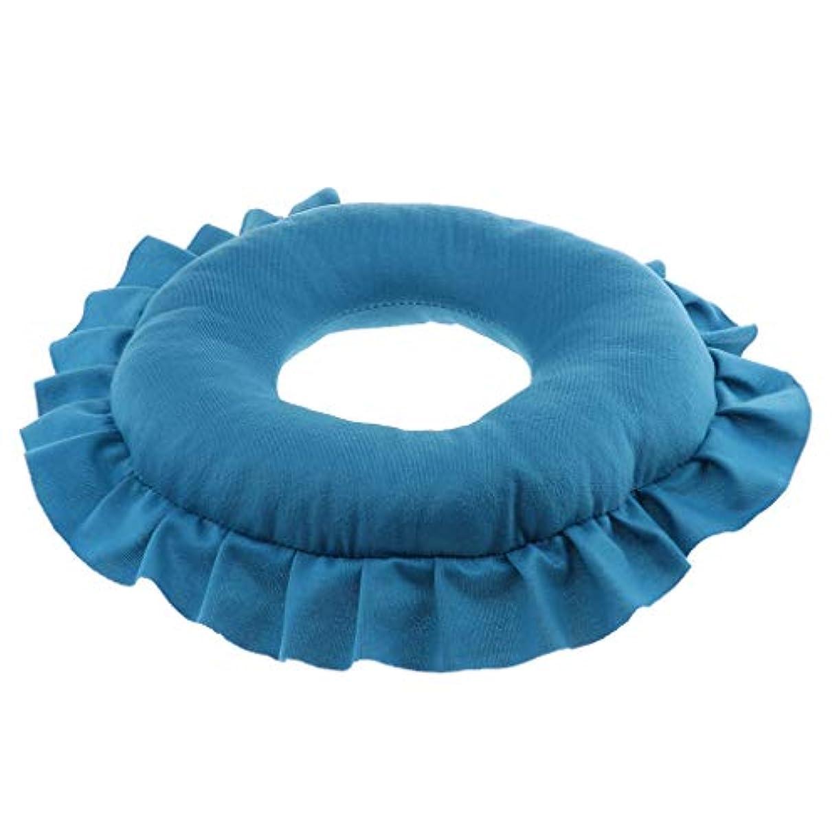 に慣れ最小化するメロディアスsharprepublic マッサージ枕 顔枕 エステマクラ 首枕 クッション うつ伏せ 顔 額 首 枕 マッサージ 全4色 - 青