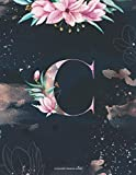 Composition Notebook Journal : C: Pretty Floral Personalized Initial Letter C Monogram. Lined Journal, Blank Book for Writing &Note Taking. Gift for Friend, Family, Girls, Coworker