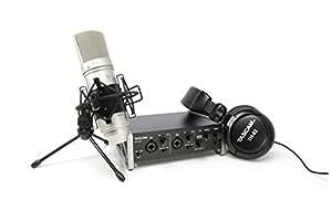 TASCAM レコーディングパッケージ  オーディオインターフェース/ステレオヘッドホン/コンデンサーマイク TRACKPACK 2x2-SC