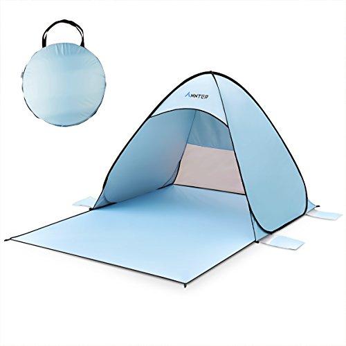 テント サンシェードテント ワンタッチテント ANNTER 2-3人用 秒数設営 超軽量 UVカット SPF+50日除け 海水浴転 砂浜 ビーチ プール キャリーバッグ付き