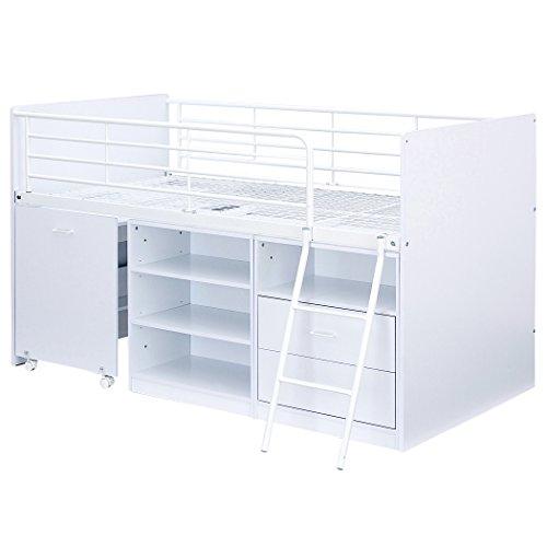 ロフトベッド システムベッド 4点セット Leaf2(リーフ2) (ホワイト)
