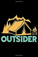 outsider: Hiking College Ruled Notebook | Hiking Lined Journal | 100 Pages | 6 X 9 inches | Awesome Hiking College ruled Lined Journal for Hiking lovers