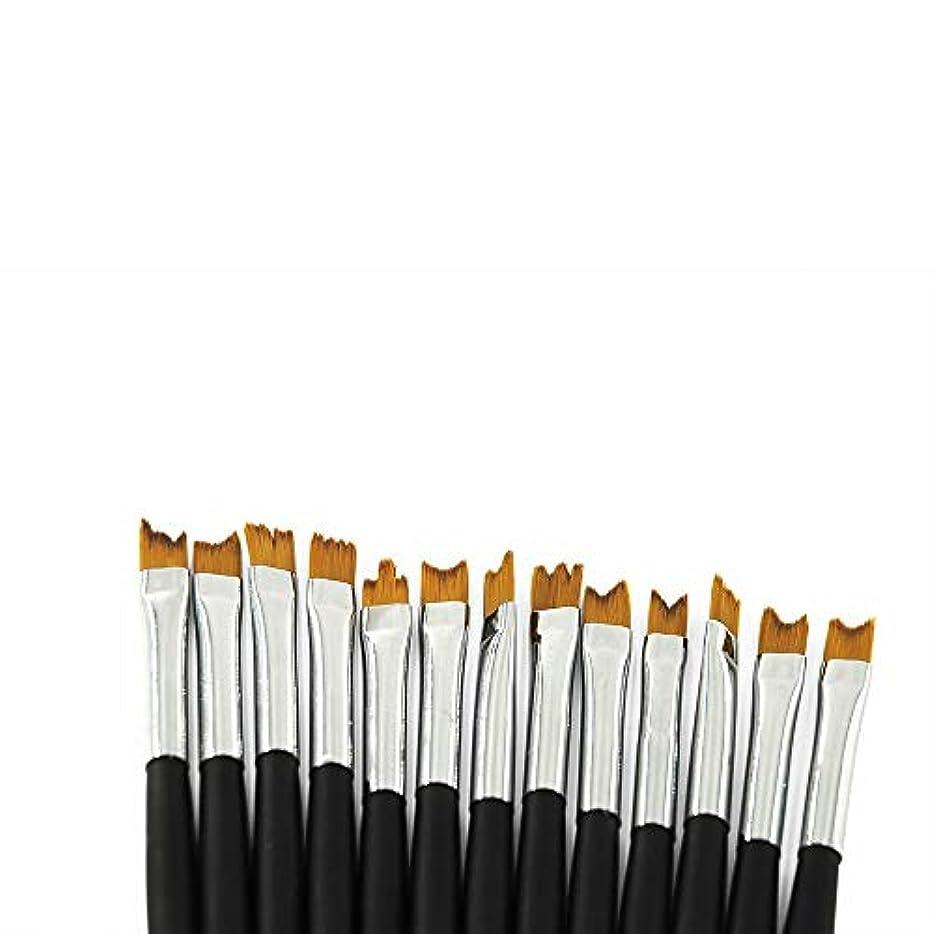 意図的出身地むしゃむしゃKADS 花びらネイルブラシ 13本セット ネイルアートブラシ 描画ブラシ ネイルアートキット マニキュアフラワーブラシ 花を簡単に描く