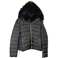 Zara Women Hooded Down Puffer Jacket 8073/223 Black