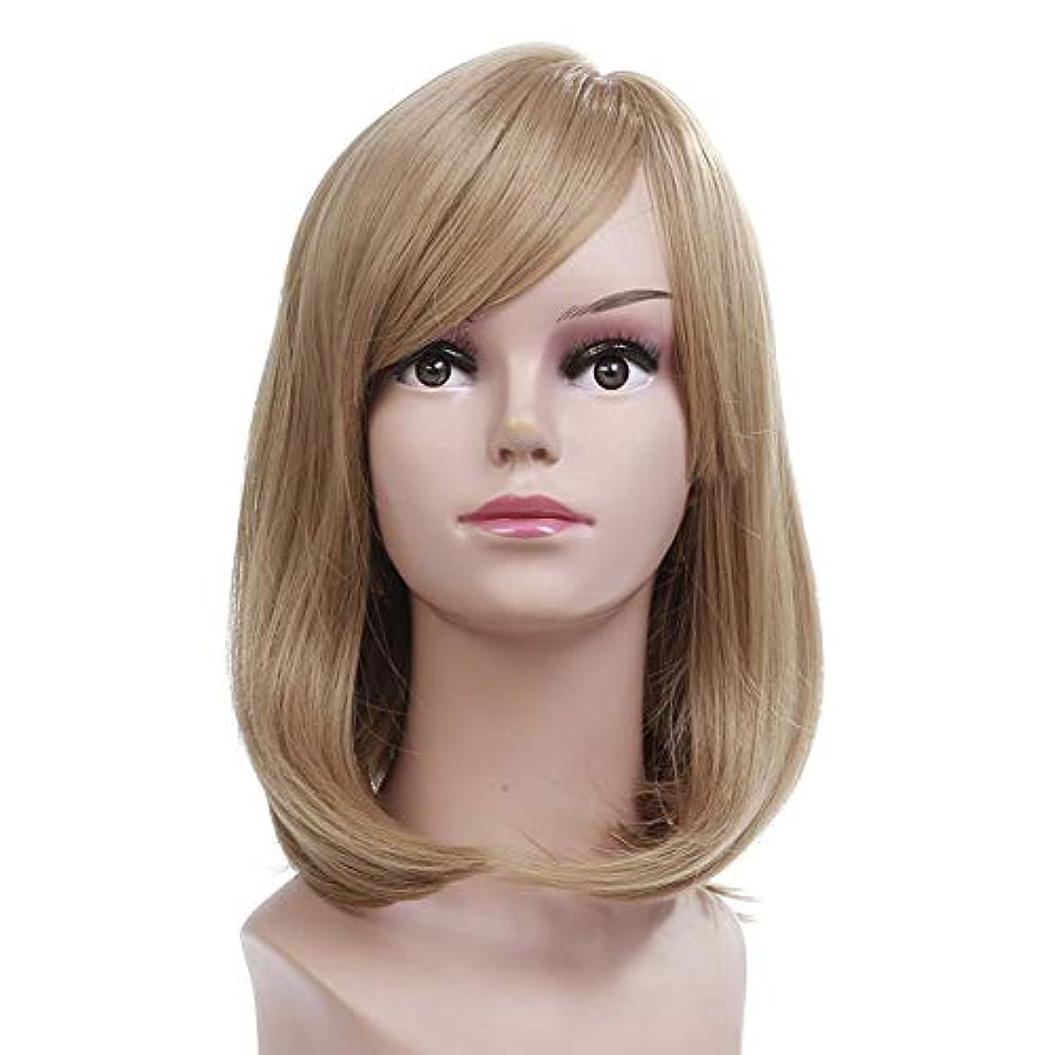 排他的真向こうウルルWASAIO ブロンドのかつら肩の長さストレートヘア (色 : Blonde)