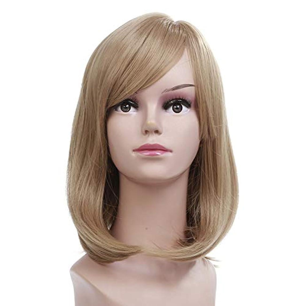 アシュリータファーマン開示する疑問を超えてWASAIO ブロンドのかつら肩の長さストレートヘア (色 : Blonde)