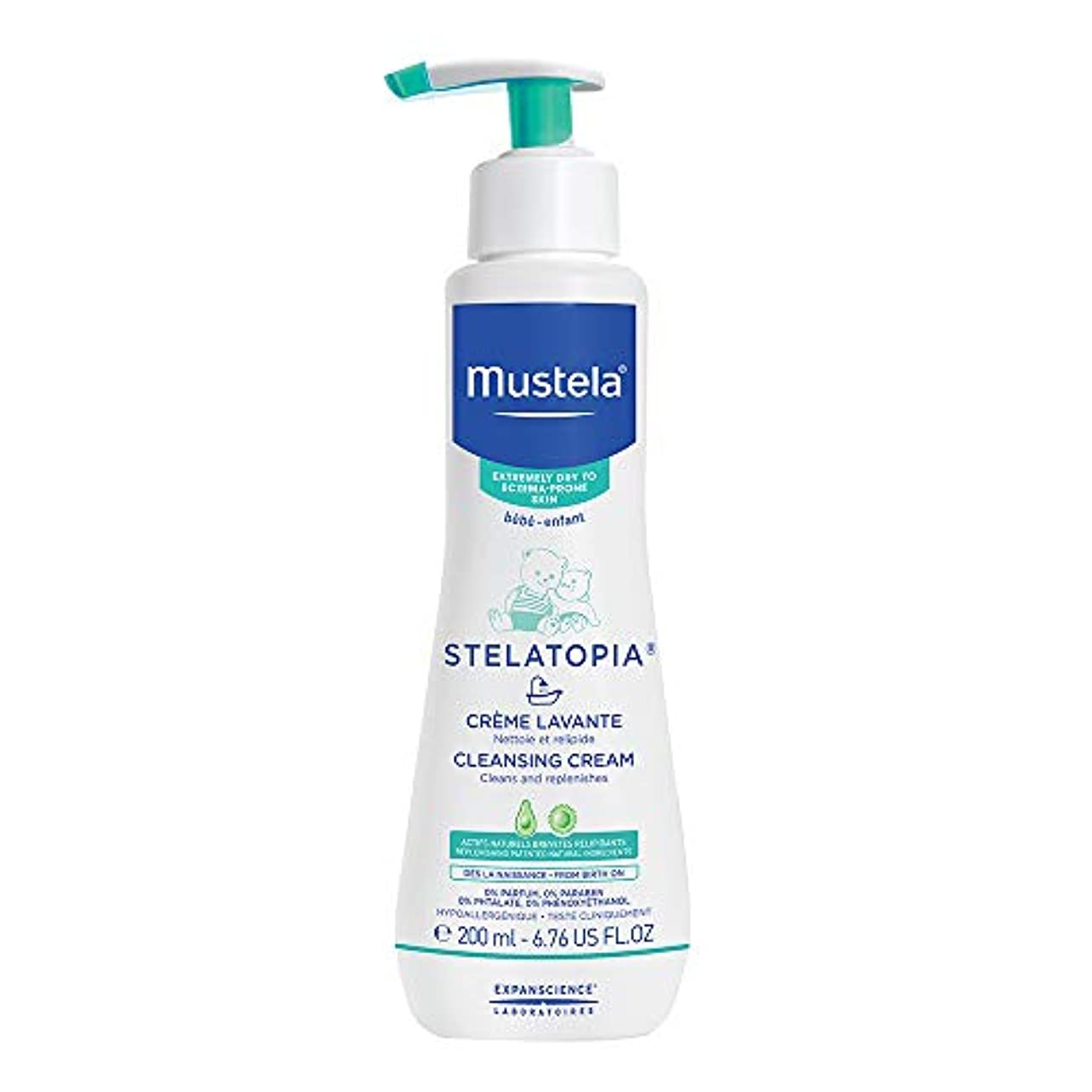 均等にプット排他的Mustela - Stelatopia Cleansing Cream (6.76 oz.)