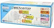 BMC フィットマスク レギュラーサイズ 白色 30枚入