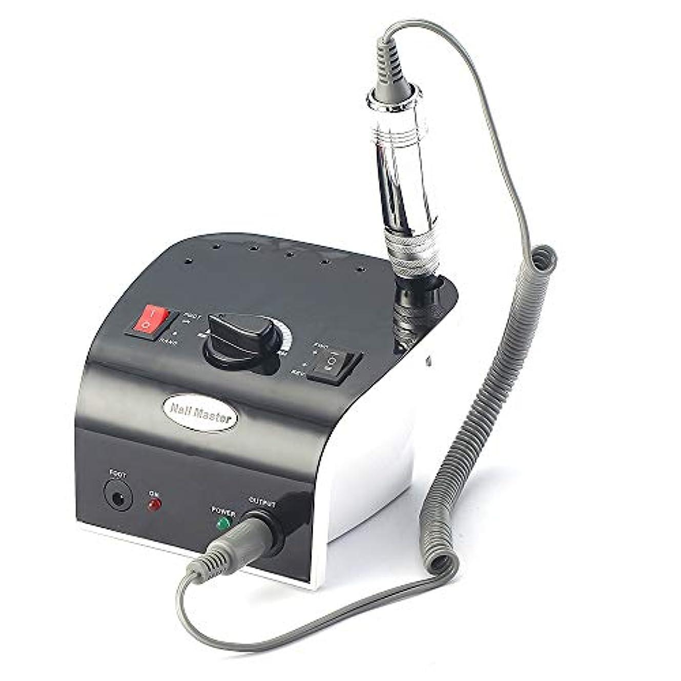家庭ラジウム効率的35000 rpmプロフェッショナル電気ネイルドリルファイルマニキュア機キット赤黒色ネイルアートツール用ネイルジェルネイルドリル