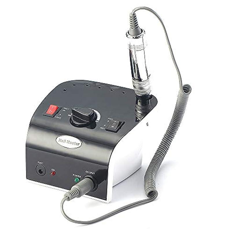 見物人ベンチ固体35000 rpmプロフェッショナル電気ネイルドリルファイルマニキュア機キット赤黒色ネイルアートツール用ネイルジェルネイルドリル