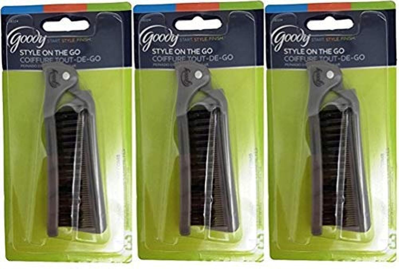 入手しますエレベーター前にGoody Folding Brush & Comb, Colors May Vary 1 ea (Pack of 3) [並行輸入品]