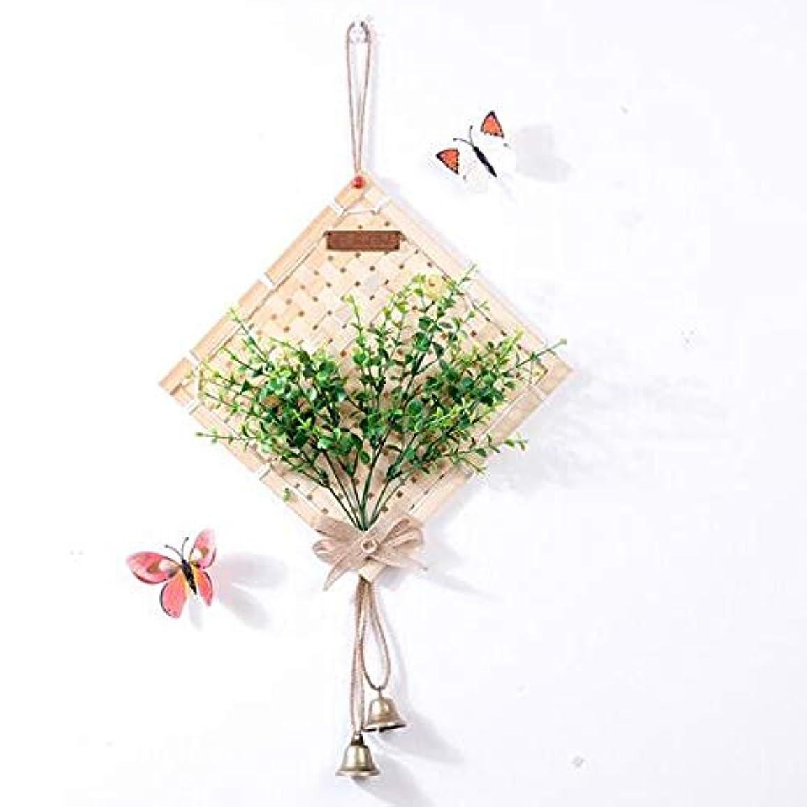 解説花瓶キャプションKaiyitong01 風チャイム、クリエイティブ?竹ホームデコレーション風チャイム、パープル、幅38.5CM,絶妙なファッション (Color : Green-D)