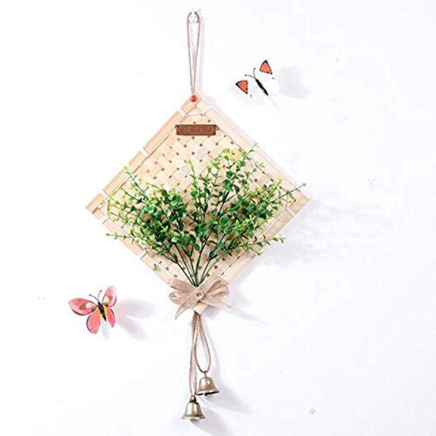 化粧白菜伝染性Kaiyitong01 風チャイム、クリエイティブ?竹ホームデコレーション風チャイム、パープル、幅38.5CM,絶妙なファッション (Color : Green-D)