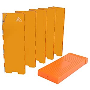 ZAFIELD ウインドスクリーン ロングタイプ 10枚板 ハードケース付 (オレンジ)